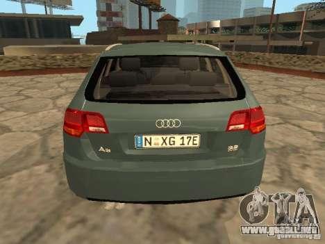 Audi S3 Sportback 2007 para la visión correcta GTA San Andreas