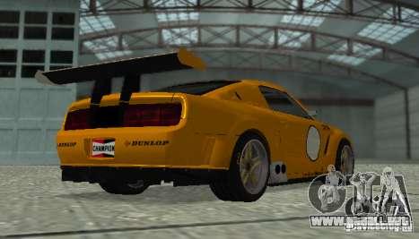 Ford Mustang GT-R para GTA San Andreas vista posterior izquierda