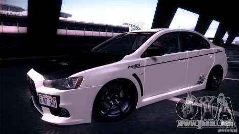 Mitsubishi Lancer Evolution X Tunable para la visión correcta GTA San Andreas