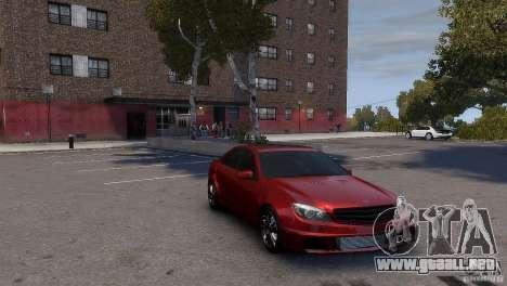 Mercedes-Benz C-Class Brabus para GTA 4 Vista posterior izquierda