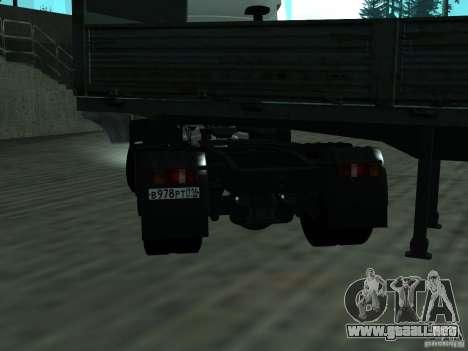 MAZ 5432 para GTA San Andreas vista posterior izquierda