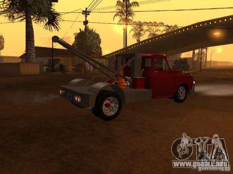 Dodge Towtruck para GTA San Andreas vista posterior izquierda