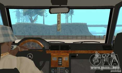 Mercedes-Benz G500 1999 v 1.1 no kengurâtnika para visión interna GTA San Andreas