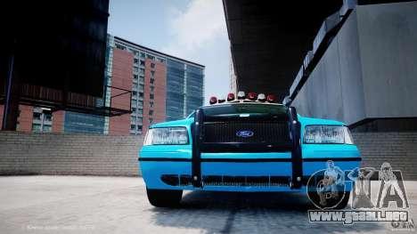 Ford Crown Victoria Classic Blue NYPD Scheme para GTA 4 vista desde abajo