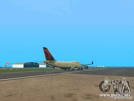 Boeing 747-400 Delta Airlines para la visión correcta GTA San Andreas