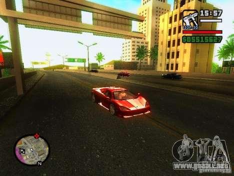 SSC Ultimate Aero para GTA San Andreas left