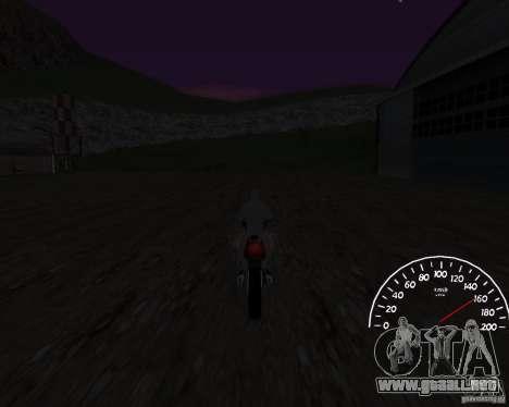 Beta velocímetro 0.5 para GTA San Andreas tercera pantalla