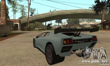 Lamborghini Diablo GT-R para GTA San Andreas vista posterior izquierda
