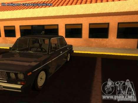 VAZ 2106 para vista inferior GTA San Andreas