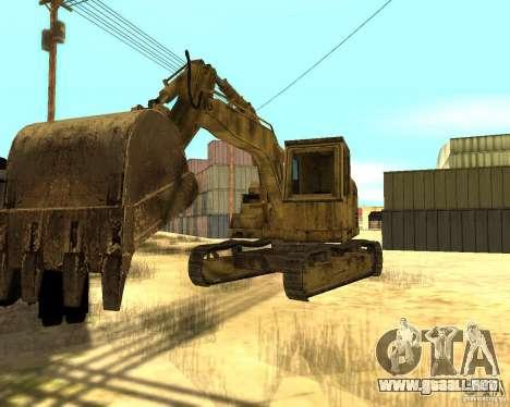 Excavadora para GTA San Andreas vista posterior izquierda