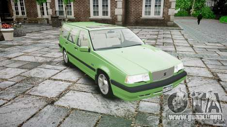Volvo 850 Turbo 1996 para GTA 4 vista interior