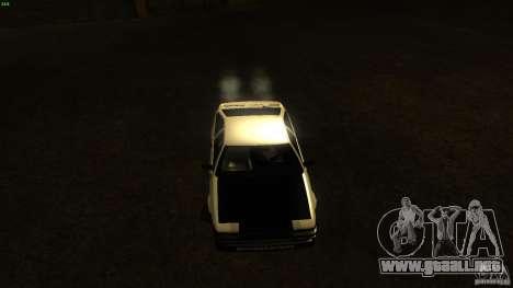 Toyota AE86 Trueno Touge Drift para GTA San Andreas vista hacia atrás