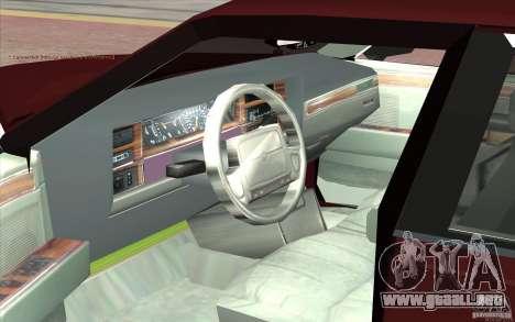 Chrysler Dynasty para GTA San Andreas vista hacia atrás