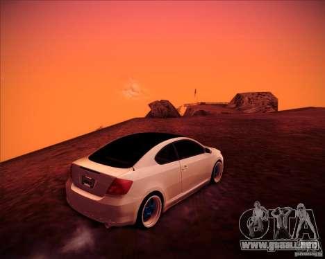 Scion tC Blue Meisters para visión interna GTA San Andreas