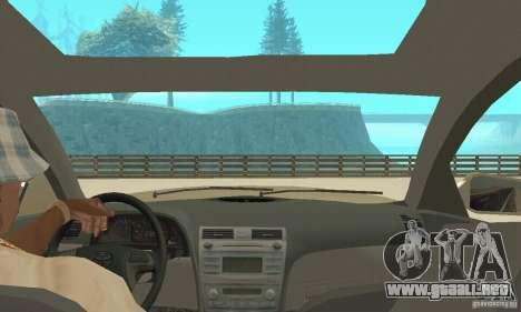 Toyota Camry Tuning 2010 para visión interna GTA San Andreas