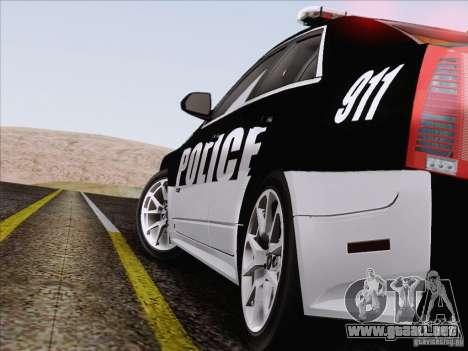 Cadillac CTS-V Police Car para la vista superior GTA San Andreas