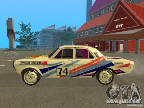 Volga GAZ 24-10 Rally para GTA San Andreas left