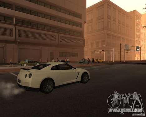 Nissan GT-R Pronto para GTA San Andreas vista posterior izquierda