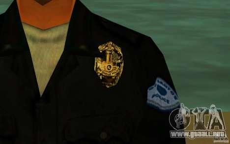 HQ skin lapd1 para GTA San Andreas sucesivamente de pantalla