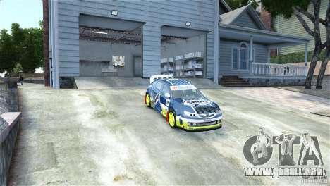 Subaru Impreza WRX STI Rallycross SHOEL Vinyl para GTA 4 visión correcta