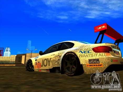 BMW M3 GT ALMS GT2 Series para GTA San Andreas vista hacia atrás