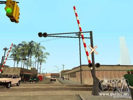 FERROCARRIL cruzando RUS para GTA San Andreas segunda pantalla