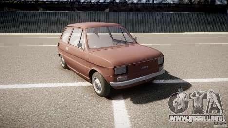 Fiat 126 para GTA 4 vista hacia atrás