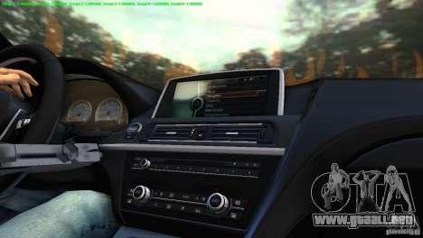BMW M6 2013 para GTA Vice City visión correcta