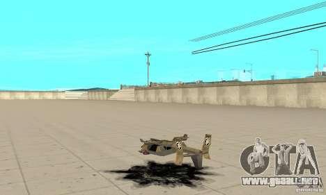Halcón para GTA San Andreas vista posterior izquierda