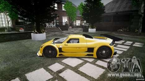 Gumpert Apollo Sport v1 2010 para GTA 4 Vista posterior izquierda