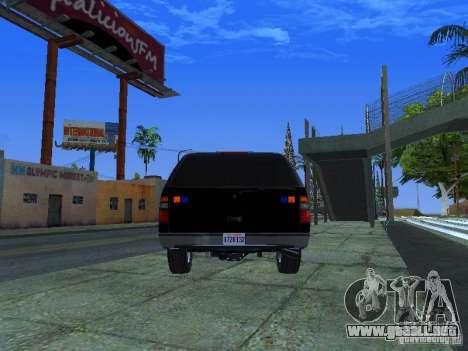 Chevrolet Suburban Los Angeles Police para GTA San Andreas vista posterior izquierda