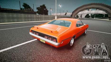 Mercury Cyclone Spoiler 1970 para GTA 4 Vista posterior izquierda