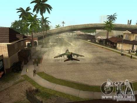 Camuflaje para Hydra para GTA San Andreas vista posterior izquierda