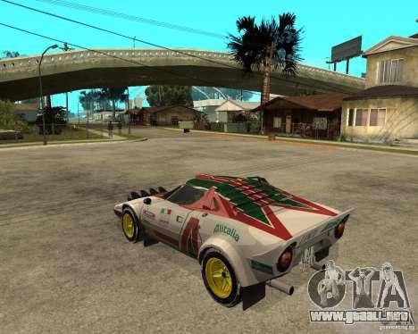 Lancia Stratos para GTA San Andreas left