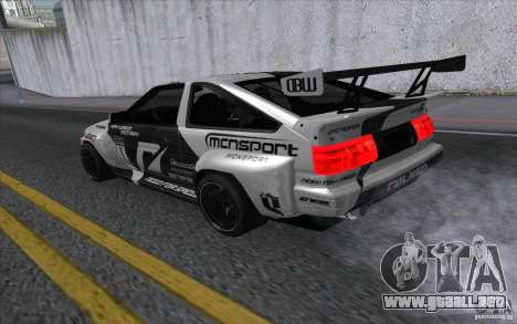 Toyota Corolla AE86 Shift 2 para GTA San Andreas left