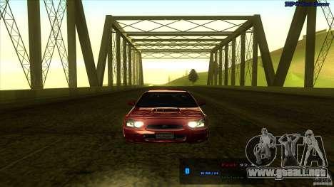 ENBSeries 0.75c para GTA San Andreas sucesivamente de pantalla