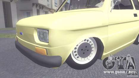 Fiat 126 para GTA San Andreas vista posterior izquierda