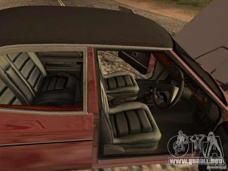 Ford Cortina MK 3 2000E para GTA San Andreas vista hacia atrás