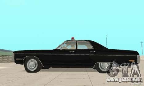 Plymouth Fury III Police para la visión correcta GTA San Andreas