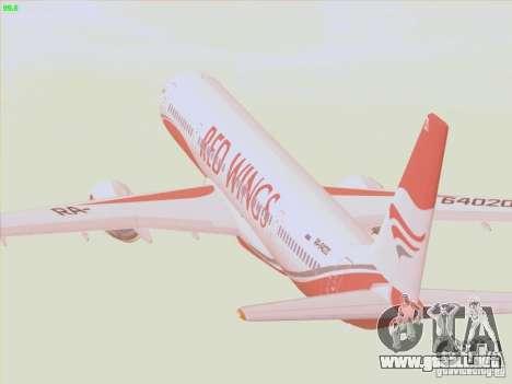 Tupolev Tu-204 Red Wings Airlines para vista lateral GTA San Andreas