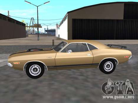 Dodge Challenger 440 Six Pack 1970 para GTA San Andreas left