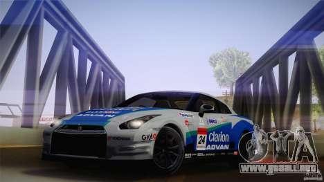 Nissan GTR R35 Tunable v2 para GTA San Andreas vista posterior izquierda