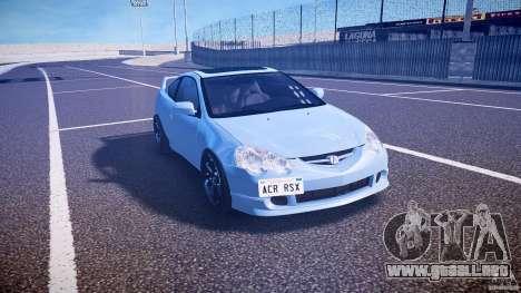 Acura RSX TypeS v1.0 Volk TE37 para GTA 4 vista hacia atrás