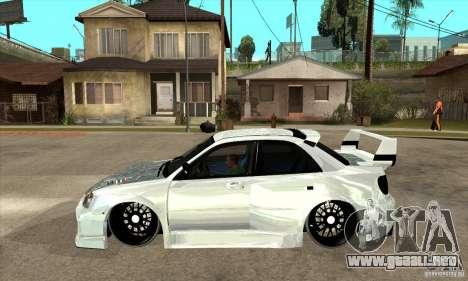 Subaru Impreza Tunned para GTA San Andreas left
