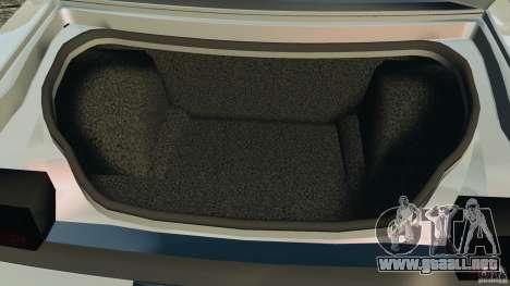 Dodge Challenger SRT8 392 2012 para GTA 4 vista desde abajo