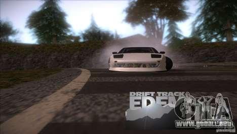 Edem Hill Drift Track para GTA San Andreas sucesivamente de pantalla