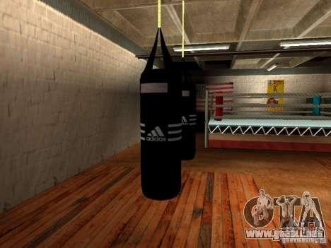 Nuevo saco de boxeo para GTA San Andreas
