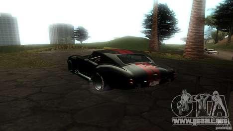 Shelby Cobra Dezent Tuning para GTA San Andreas vista posterior izquierda