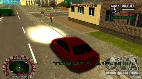 Toyota Avensis para la visión correcta GTA San Andreas