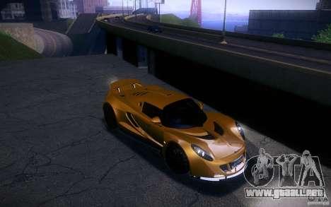 Hennessey Venom GT 2010 V1.0 para GTA San Andreas vista hacia atrás